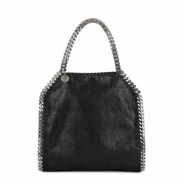 Stella McCartney Falabella Mini Black Faux Suede Tote