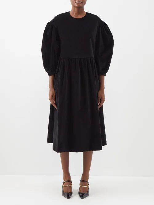 Ellery - Asymmetric Crepe Midi Skirt - Womens - Black