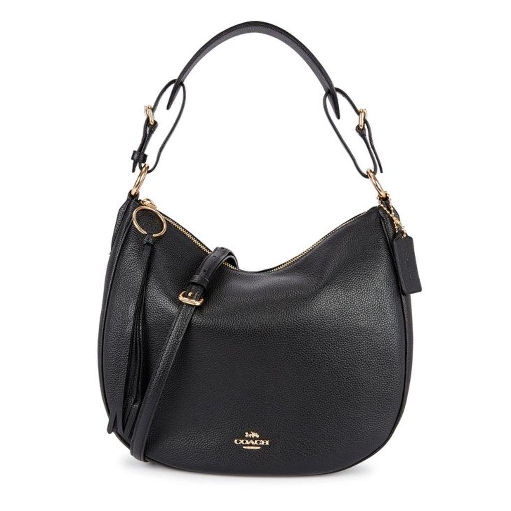 Coach Sutton Black Leather Hobo Bag