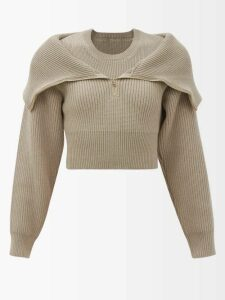 Le Kilt - Pleated 65cm Tartan Wool Kilt - Womens - Red Multi