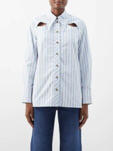 Sies Marjan - Rayna Buckled Satin Skirt - Womens - Red