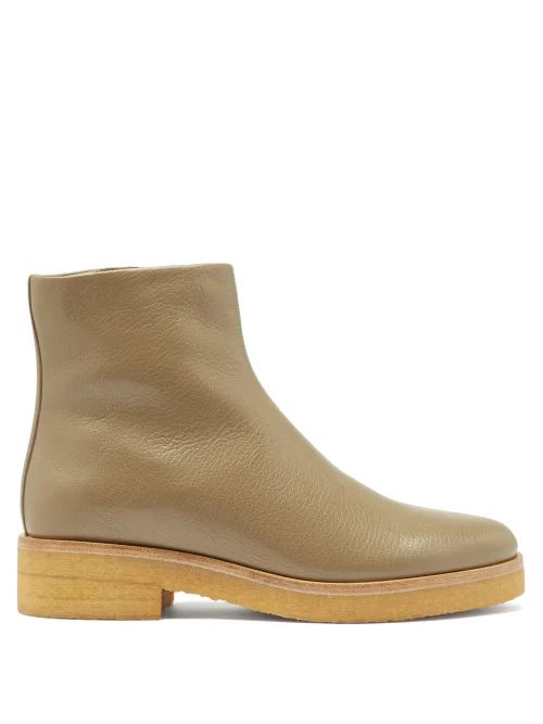 Marni - High Rise Cotton Drill Midi Skirt - Womens - Blue