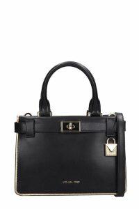 Michael Kors Black Leather Mini Satchel Bag