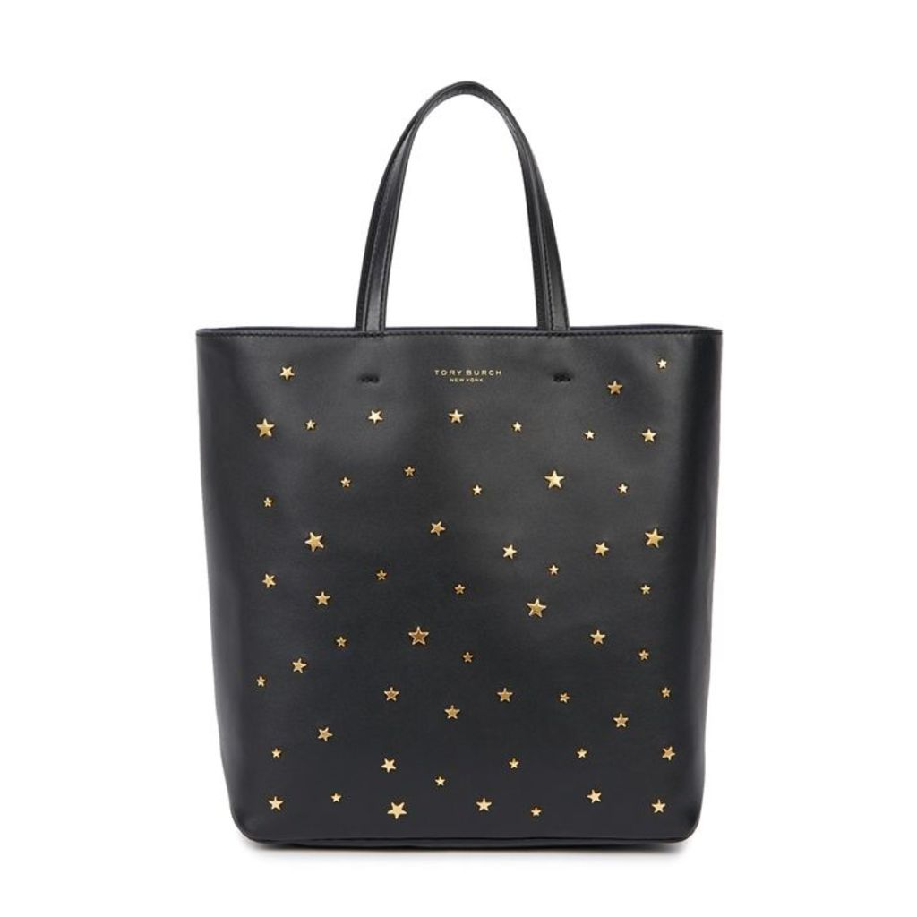 Tory Burch Star Stud Small Leather Tote