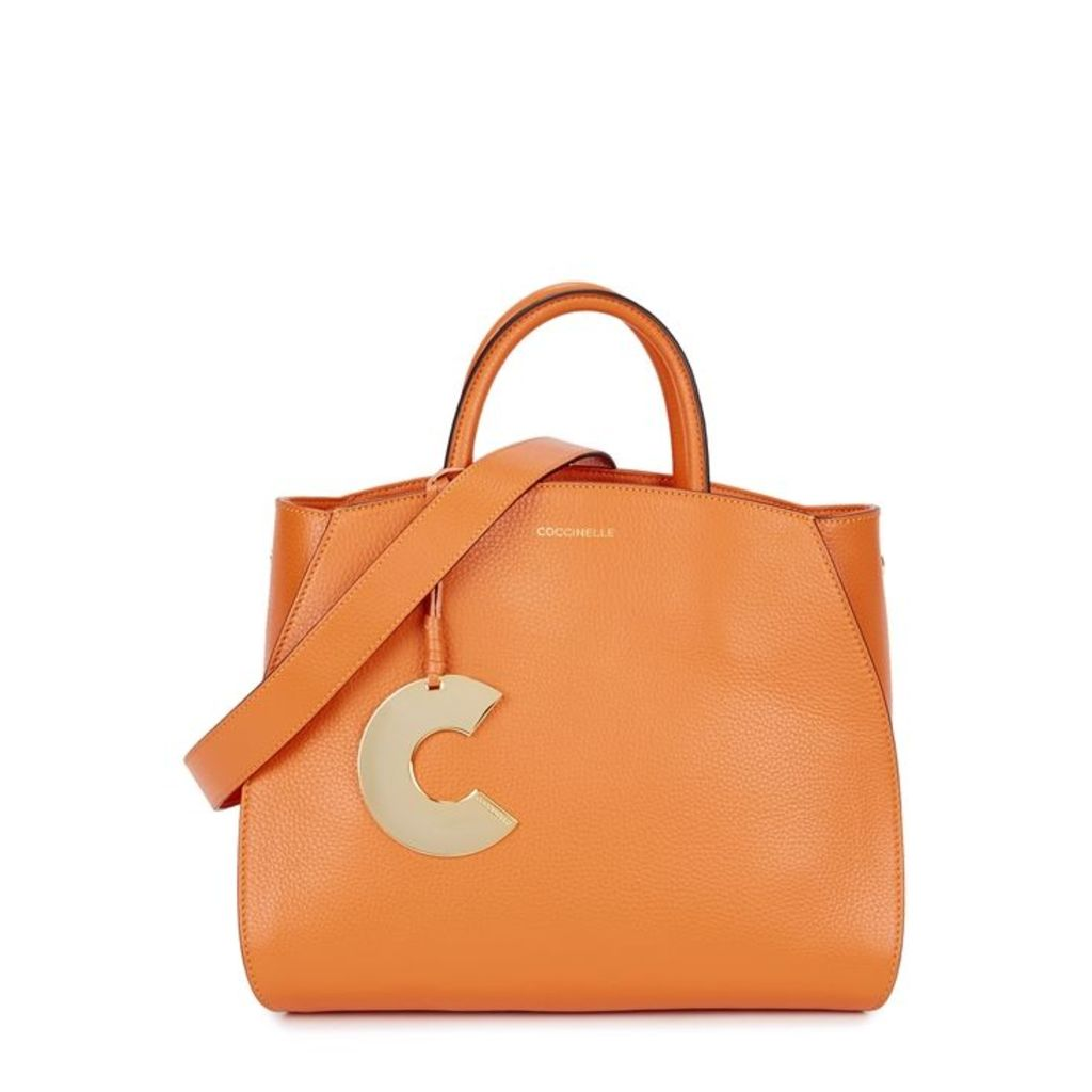 COCCINELLE Concrete Small Leather Top Handle Bag