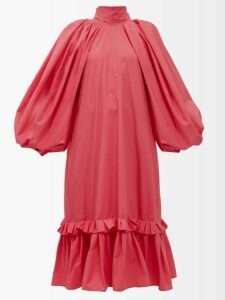 Loewe - Handkerchief Hem Linen And Crepe Skirt - Womens - Dark Green