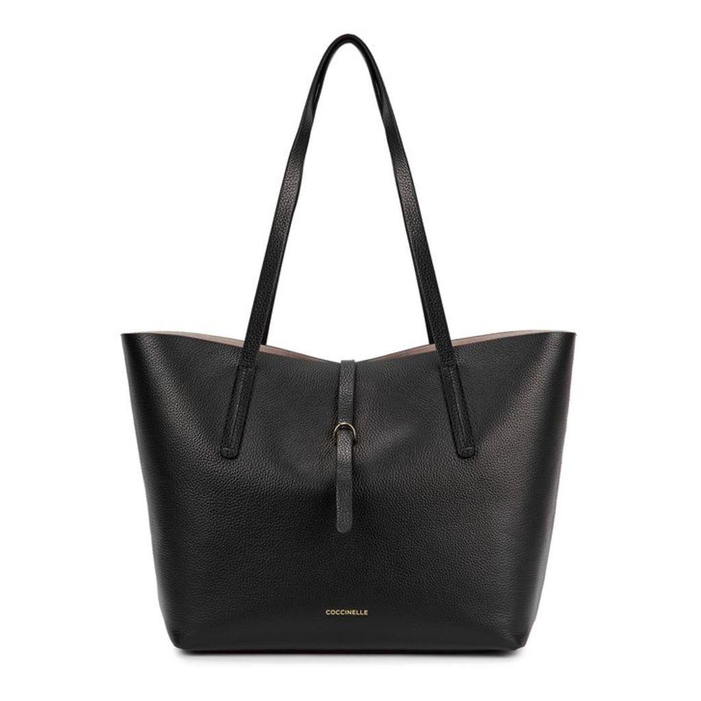 COCCINELLE Dione Black Leather Tote