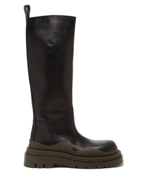 By Walid - Daisy Floral Print Cotton Canvas Midi Skirt - Womens - Green Print