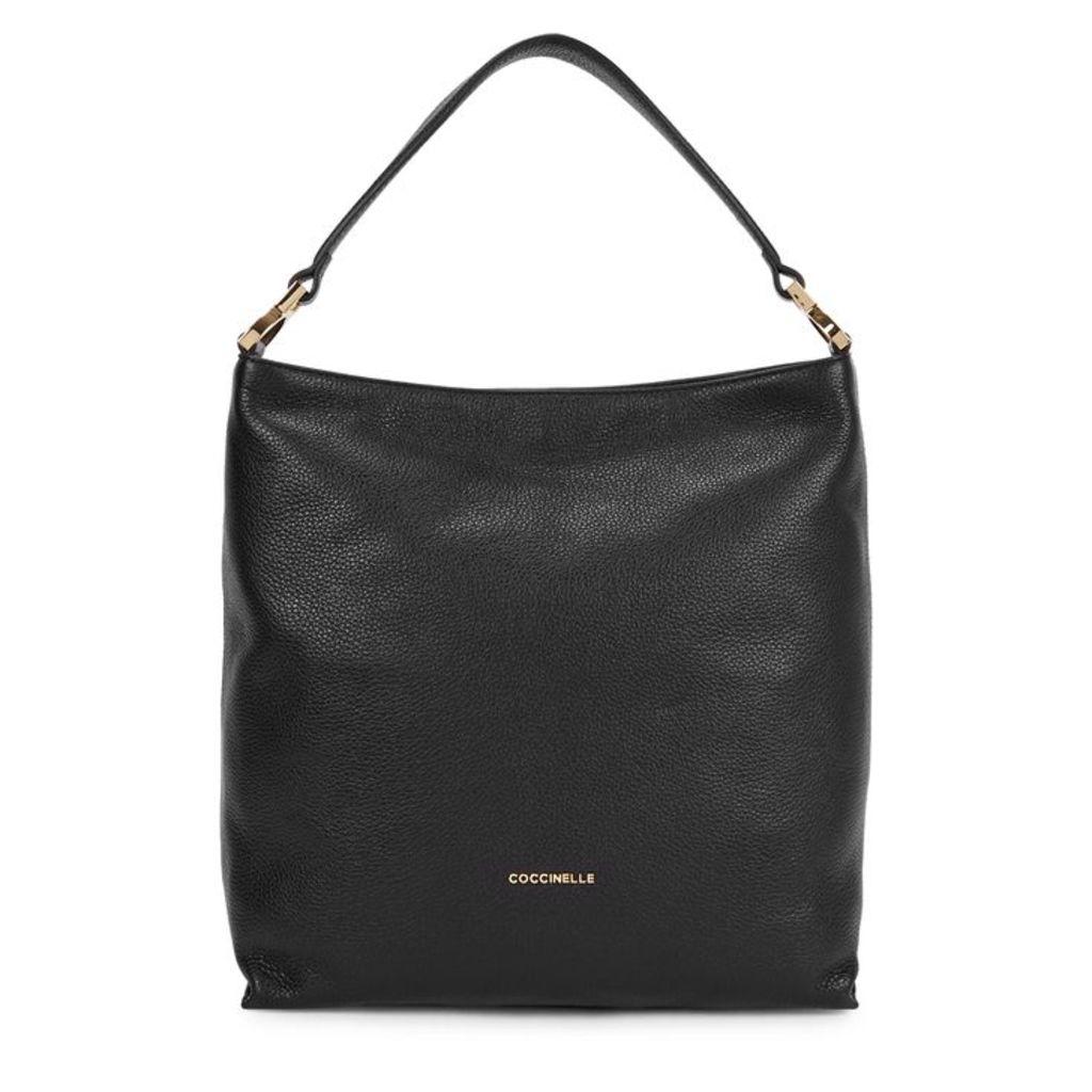 COCCINELLE Arlettis Black Leather Hobo Bag