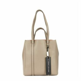 Marc Jacobs The Tag Grey Grained Leather Tote
