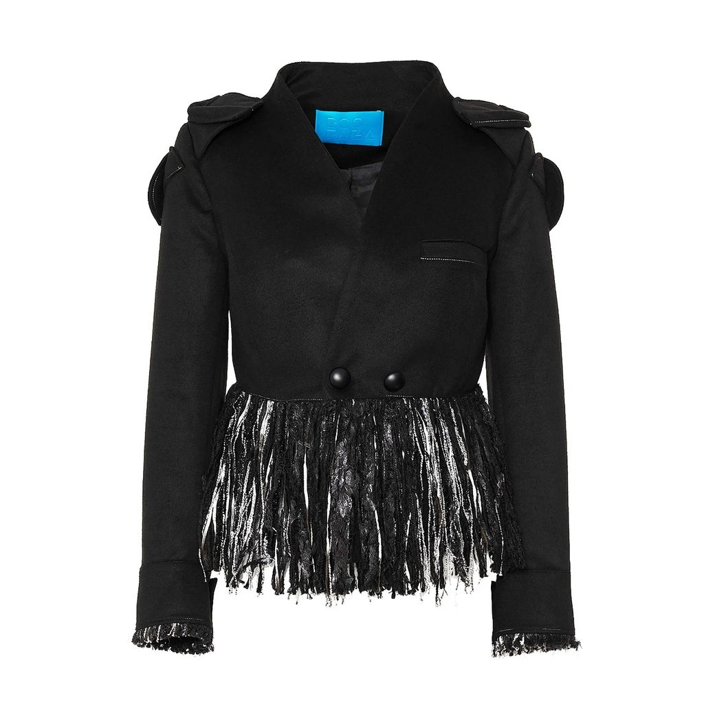 Zalinah White - Alyona Wool Pencil Skirt In Classic Red