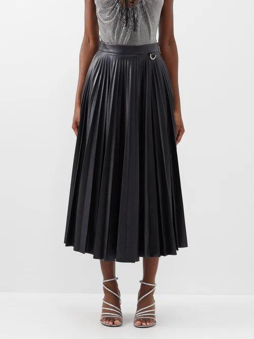 Sea - Deja Tie Front Denim Skirt - Womens - Denim