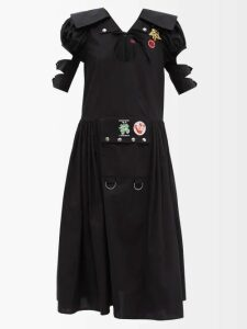 Sea - O'keefe Quilted Patch Twill Canvas Midi Skirt - Womens - Khaki