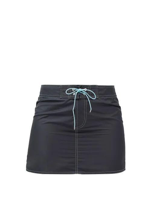 Thom Browne - Striped Cotton Seersucker Skirt - Womens - White Multi