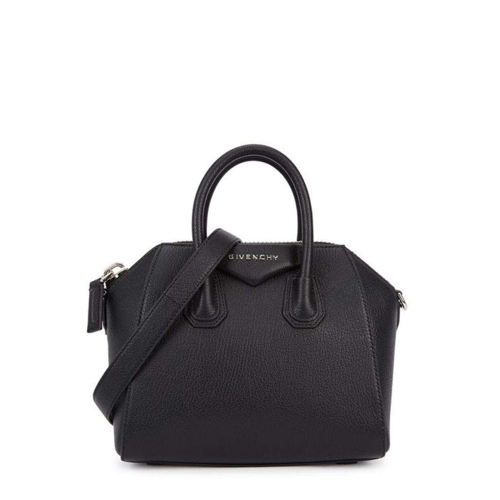 Givenchy Antigona Mini Black Leather Top Handle Bag