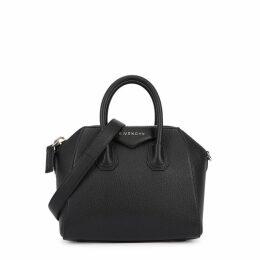 Givenchy Antigona Mini Black Leather Top Handle Bag