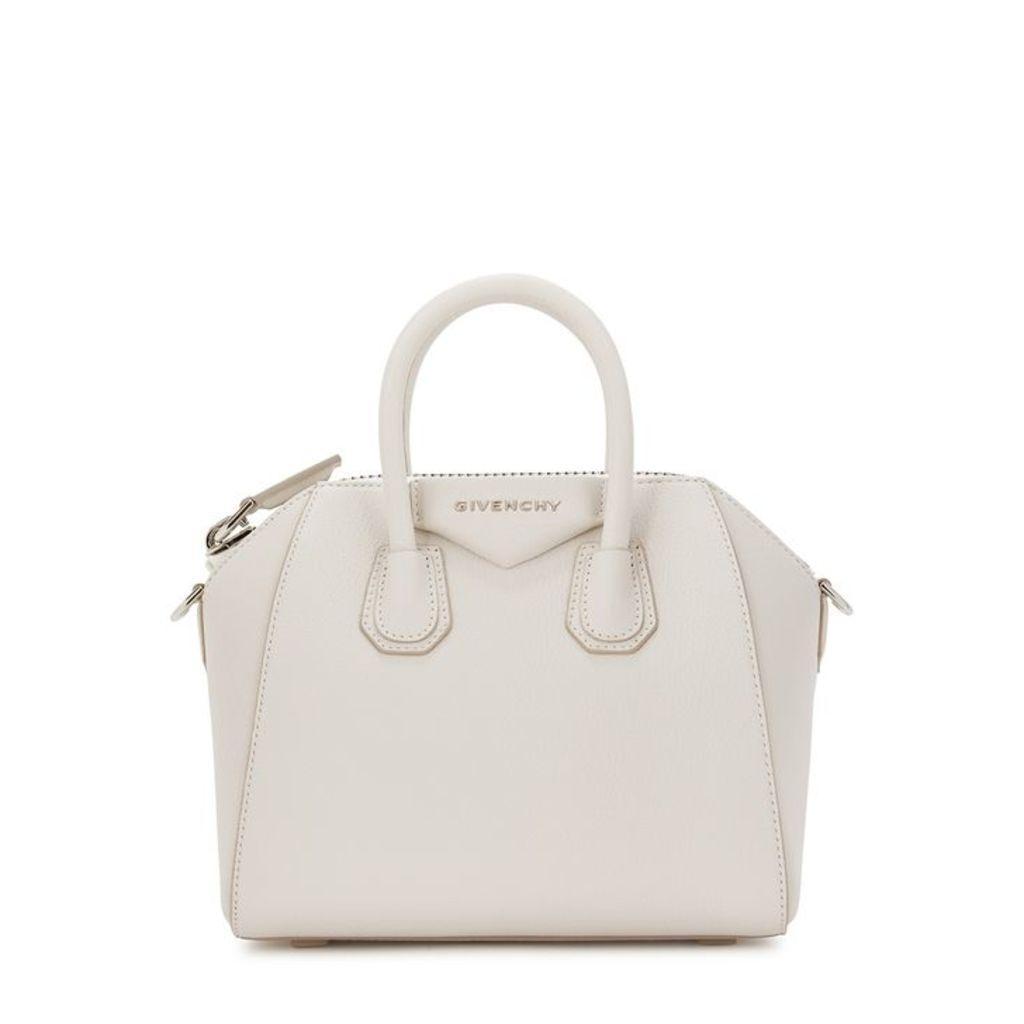 Givenchy Antigona Mini White Leather Top Handle Bag