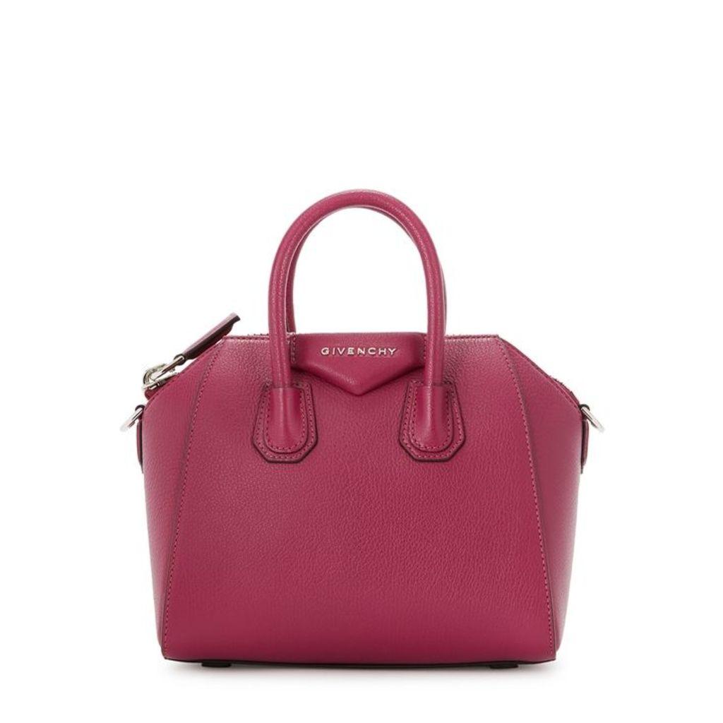Givenchy Antigona Mini Pink Leather Top Handle Bag