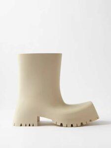 Fendi - Belted Floral Embroidered Silk Dress - Womens - Orange