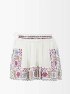 Redvalentino - Scalloped Hem Cady Mini Dress - Womens - Black