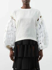 Roland Mouret - Arthur Abstract Print Midi Dress - Womens - White Black