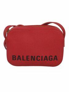 Balenciaga Souvenir Logo Print Shoulder Bag