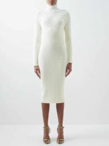 No. 21 - Pleated Floral Print Chiffon Dress - Womens - Black Multi