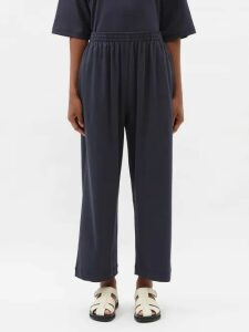 Valentino - Hibiscus Print Cotton Gown - Womens - Blue Multi