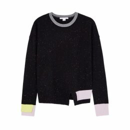 Duffy Black Flecked Cashmere Jumper