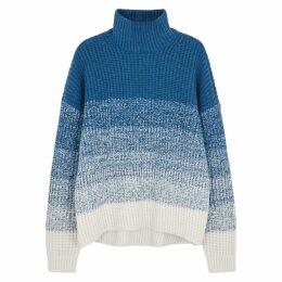 Duffy Blue Dégradé Wool-blend Jumper