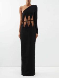 Dolce & Gabbana - Leopard Print Lamé Ruched Midi Dress - Womens - Leopard