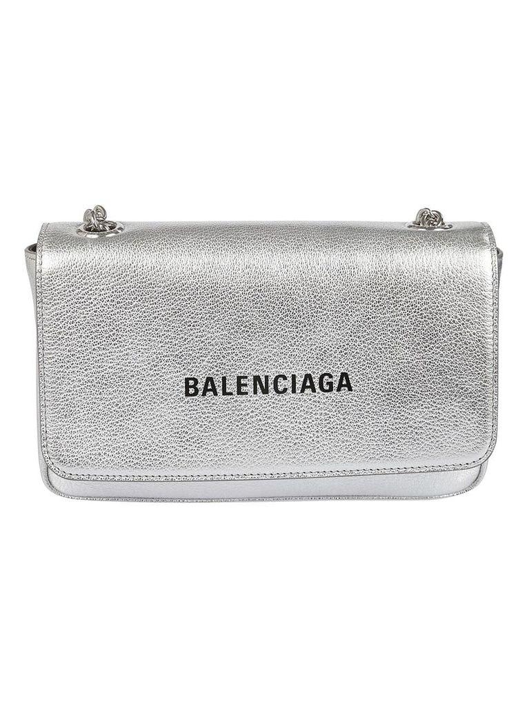 Balenciaga Mini Logo Print Shoulder Bag