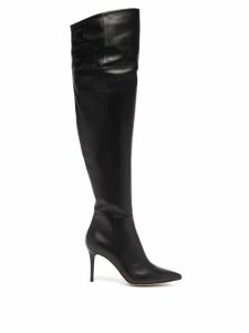 Roland Mouret - Bates Ruffled Crepe Dress - Womens - Navy Multi