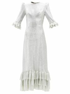 Staud - Townhouse Tulle Maxi Dress - Womens - Black Multi