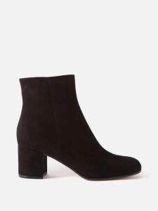 Jonathan Simkhai - Ruffled Striped Sandwashed Crepe Midi Dress - Womens - Navy White