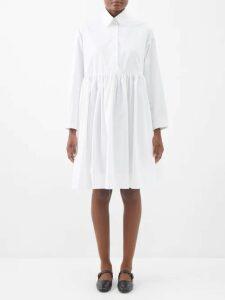 Lee Mathews - Lilla Ruffle Trimmed Silk Dress - Womens - Black