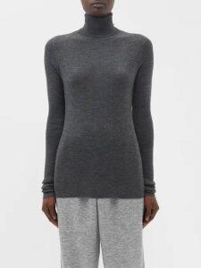 Luisa Beccaria - Floral Print Chiffon Wrap Dress - Womens - Blue Print