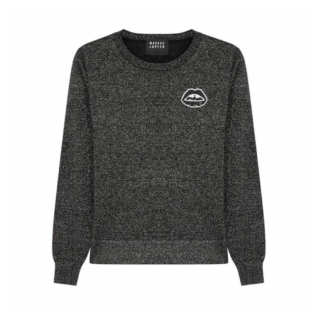 Markus Lupfer Tracy Embellished Metallic-knit Jumper