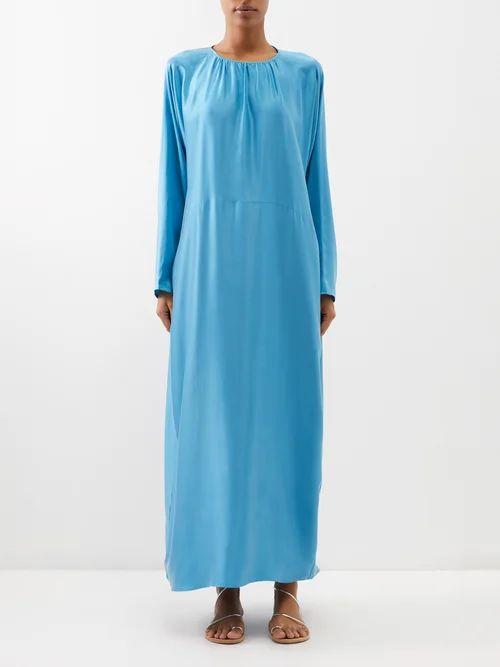 Marine Serre - Appliqué Patch Moire Jacket - Womens - Beige