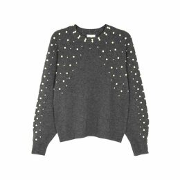 Joie Nilania Embellished Wool-blend Jumper