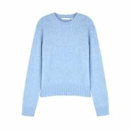 Helmut Lang Blue Wool-blend Jumper