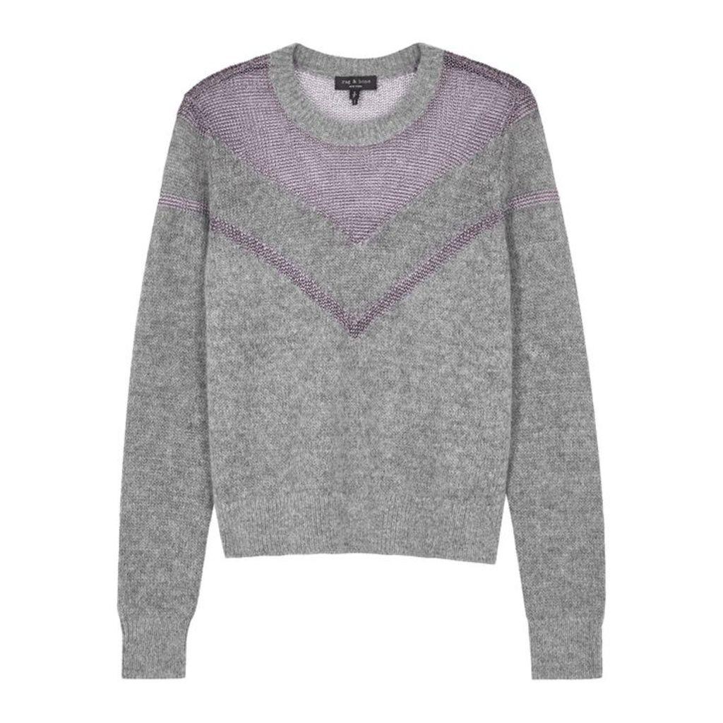 Rag & Bone Blaze Panelled Knitted Jumper