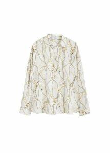 Chain print blouse