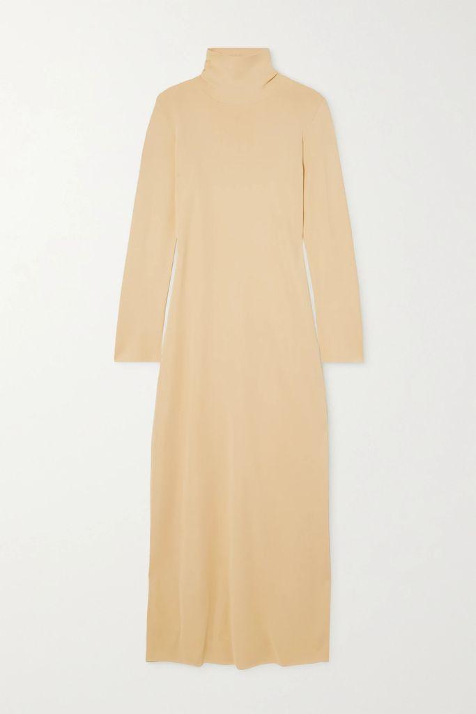 See By Chloé - Cotton-blend Velvet Bomber Jacket - Midnight blue
