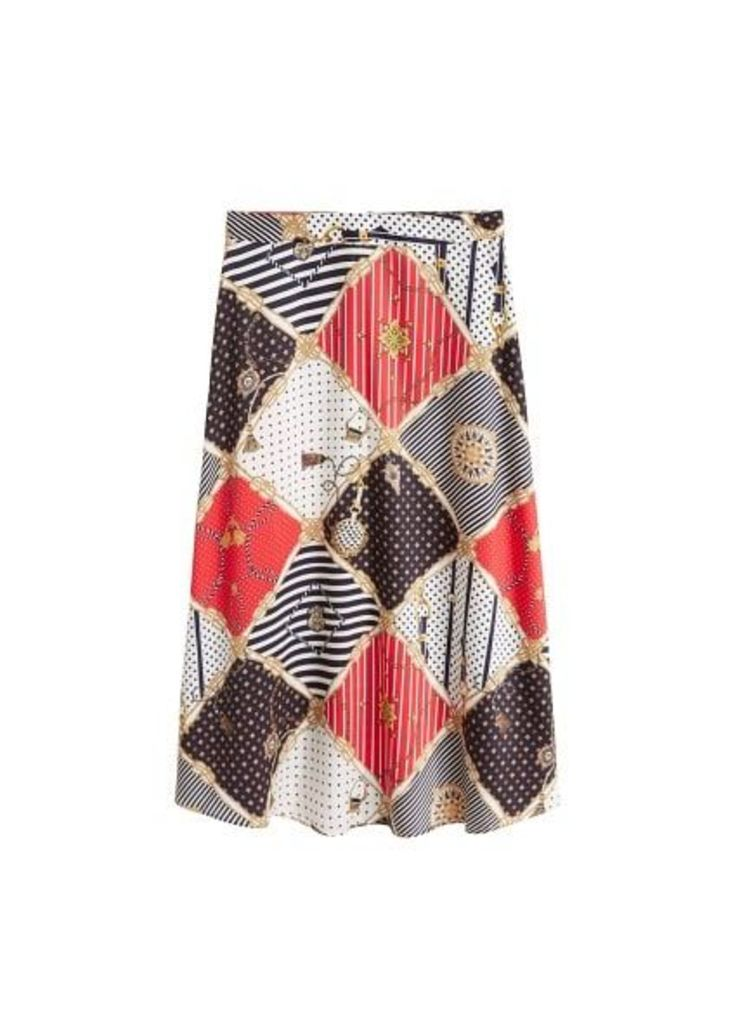 Chain printed skirt