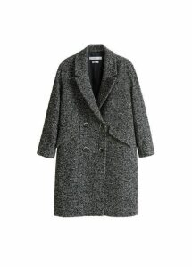 Herringbone flecked coat