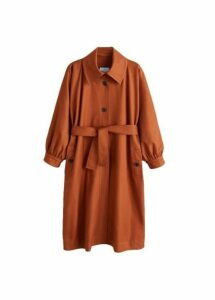 Puffed sleeves trench