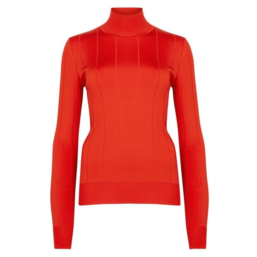 Givenchy Red Striped-knit Jumper