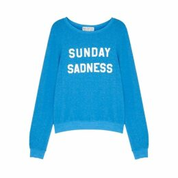Wildfox Sunday Sadness Blue Fleece Jumper