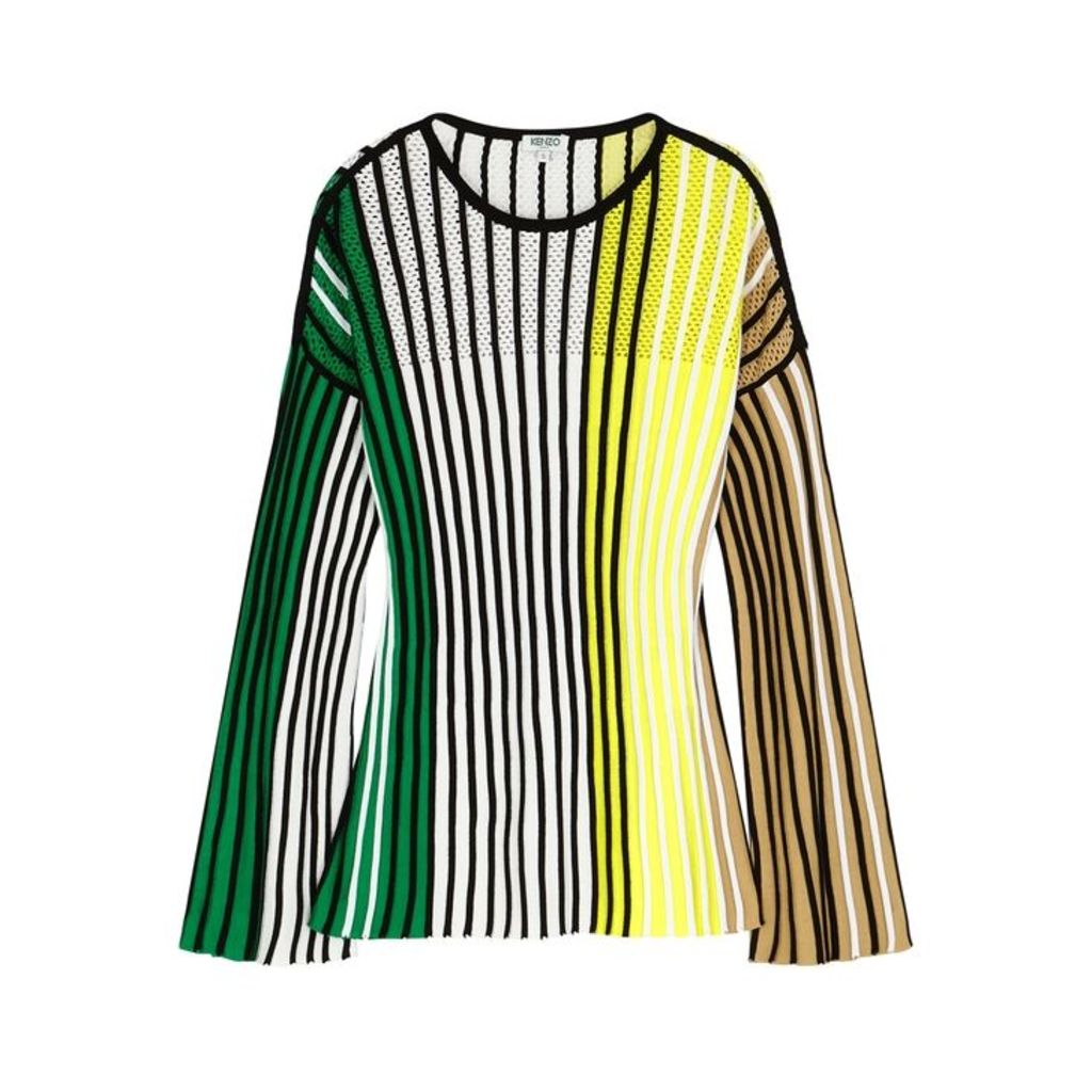 Kenzo Colour-block Ribbed-knit Jumper